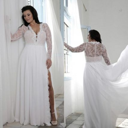 Plus size wedding dresses with sleeves 23