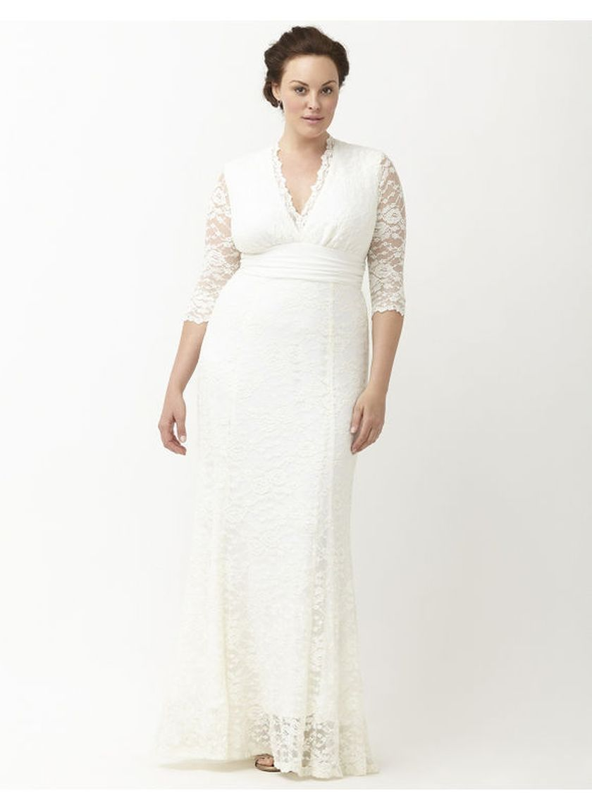 Plus size wedding dresses with sleeves 21