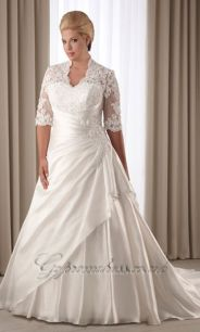 Plus size wedding dresses with sleeves 17