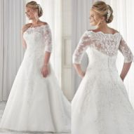 Plus size wedding dresses with sleeves 37