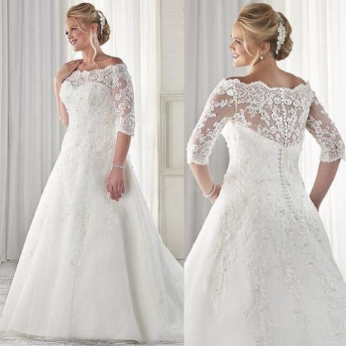 Graceful Gallery of Plus Size Wedding Dresses With Sleeves that You ...