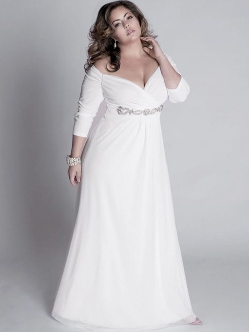 Plus size wedding dresses with sleeves 9