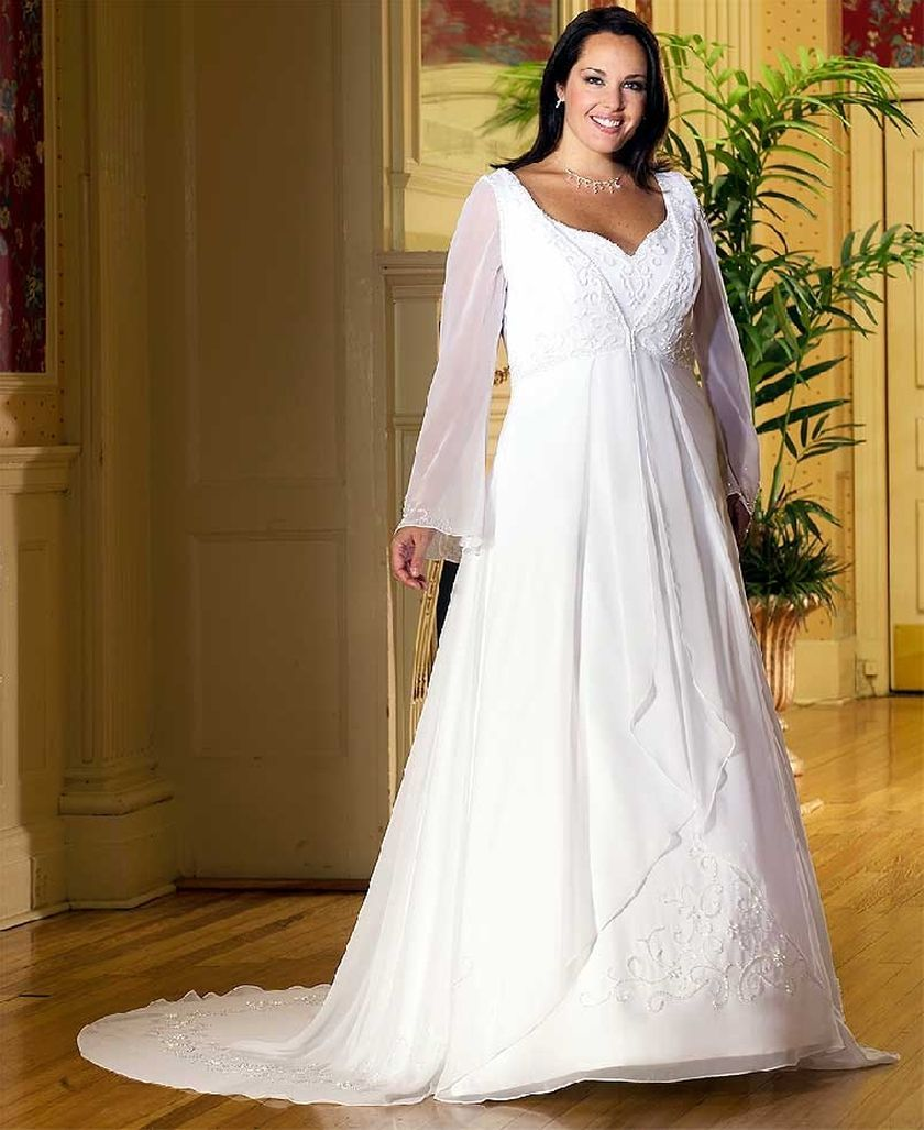 Plus size wedding dresses with sleeves 1
