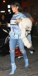 Rihanna arrives at up & down in new york