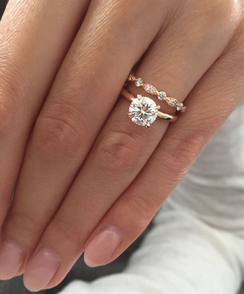 Rose gold solitaire ring for wedding 17