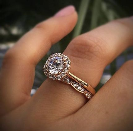 Rose gold solitaire ring for wedding 18
