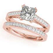 Rose gold solitaire ring for wedding 24