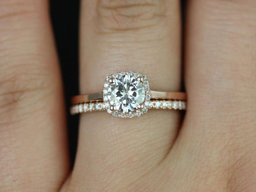 Rose gold solitaire ring for wedding 25