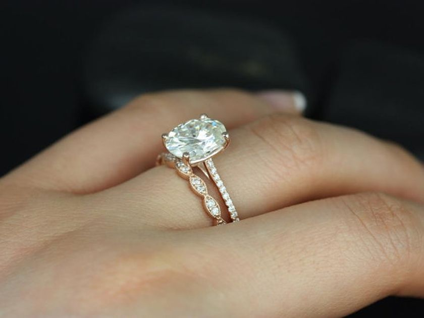 Rose gold solitaire ring for wedding 27