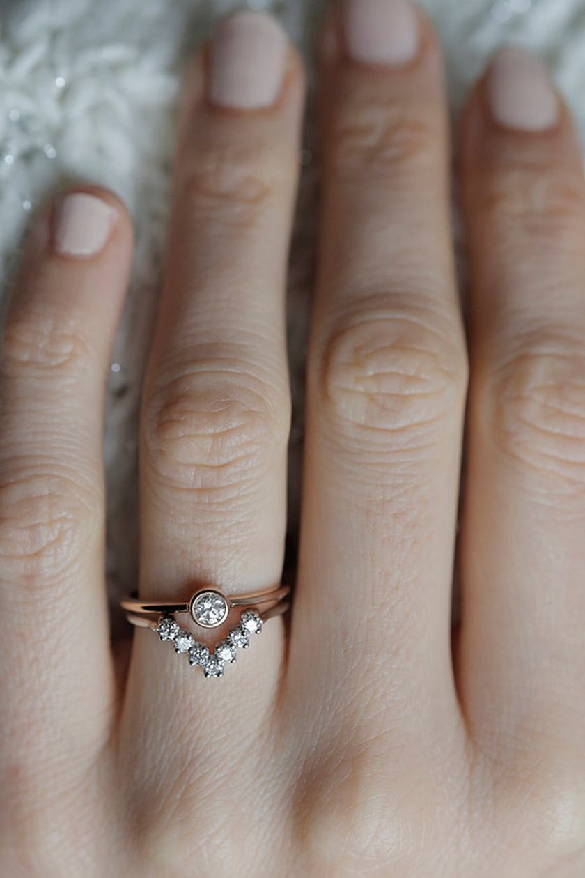 Rose gold solitaire ring for wedding 45
