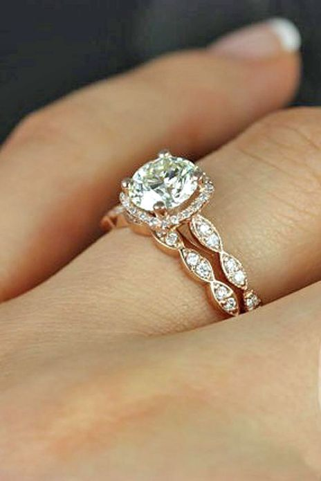 Rose gold solitaire ring for wedding 57