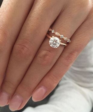 Rose gold solitaire ring for wedding 7