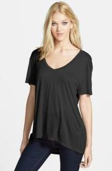Sexy soft v neck tees women outfit style 30