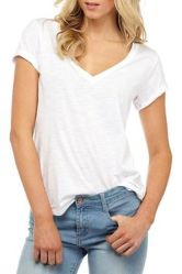 Sexy soft v neck tees women outfit style 32