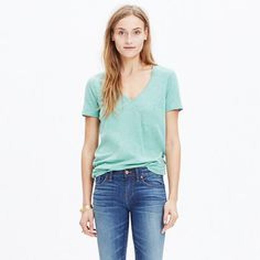 Sexy soft v neck tees women outfit style 45