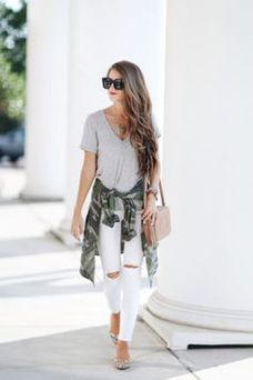 Sexy soft v neck tees women outfit style 58