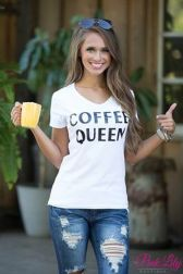 Sexy soft v neck tees women outfit style 63