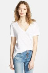 Sexy soft v neck tees women outfit style 68