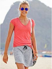 Sexy soft v neck tees women outfit style 69