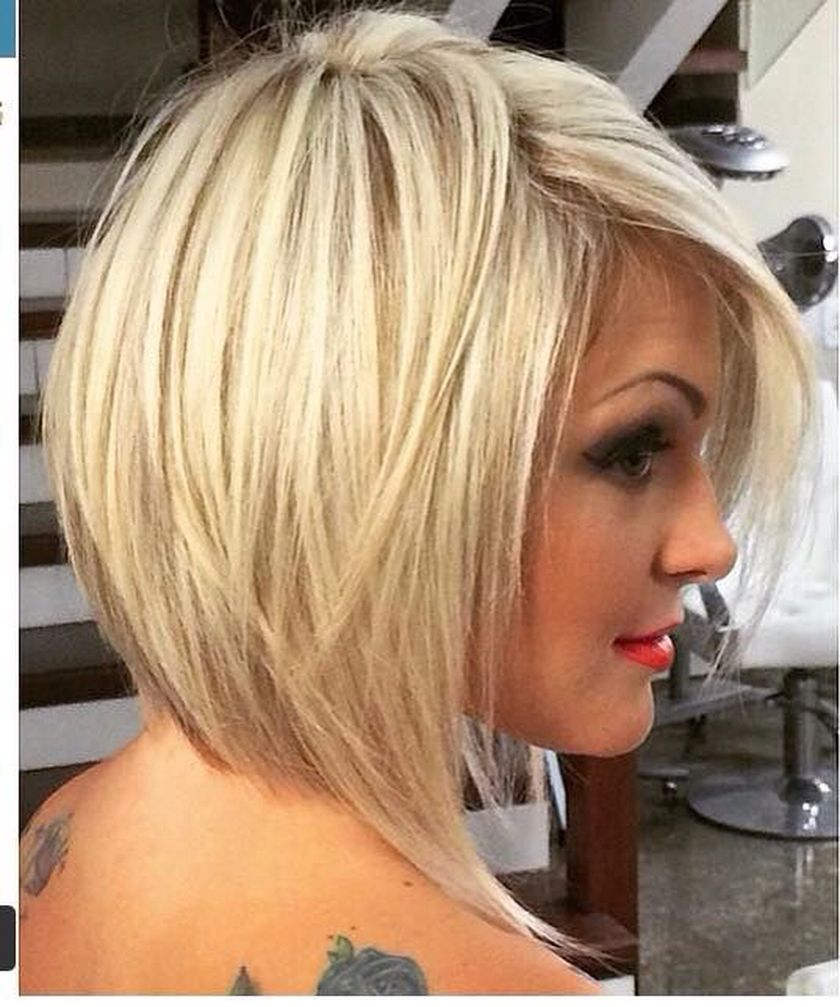 Short asymmetrical bobs hairstyle haircut 50