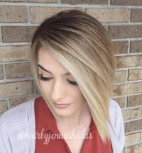 Short asymmetrical bobs hairstyle haircut 57