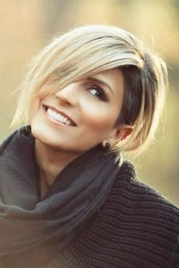 Short asymmetrical bobs hairstyle haircut 60