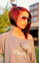 Short asymmetrical bobs hairstyle haircut 65