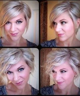 Short asymmetrical bobs hairstyle haircut 72