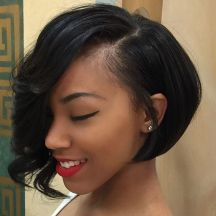 Short asymmetrical bobs hairstyle haircut 87