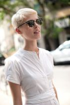 Short hair pixie cut hairstyle with glasses ideas 48