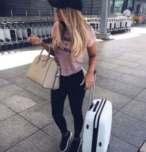 Summer airplane outfits travel style 49