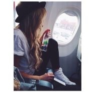 Summer airplane outfits travel style 57