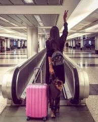 Summer airplane outfits travel style 8