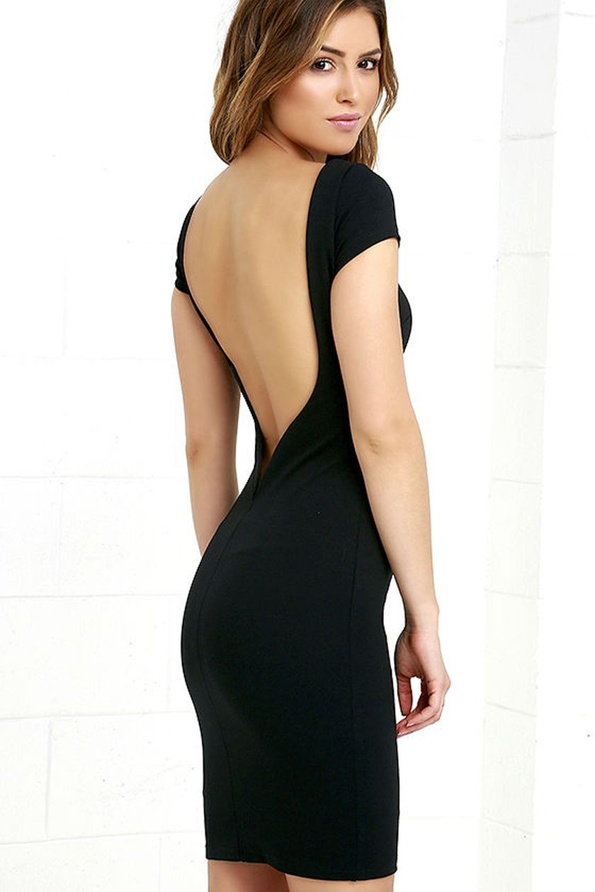 Summer casual backless dresses outfit style 102