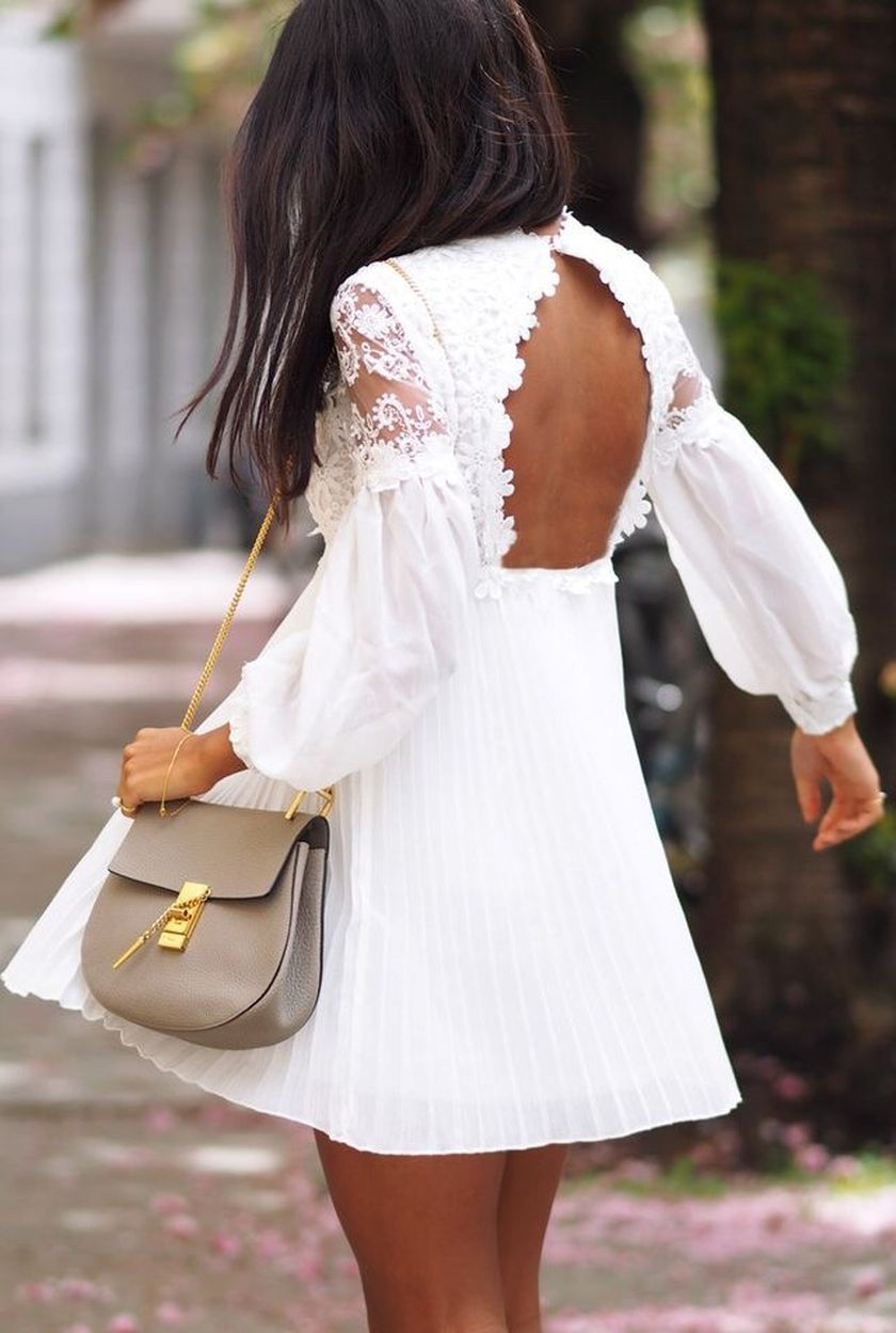 Summer casual backless dresses outfit style 105