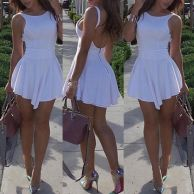 Summer casual backless dresses outfit style 112
