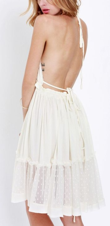 Summer casual backless dresses outfit style 12