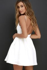 Summer casual backless dresses outfit style 36