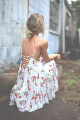 Summer casual backless dresses outfit style 44