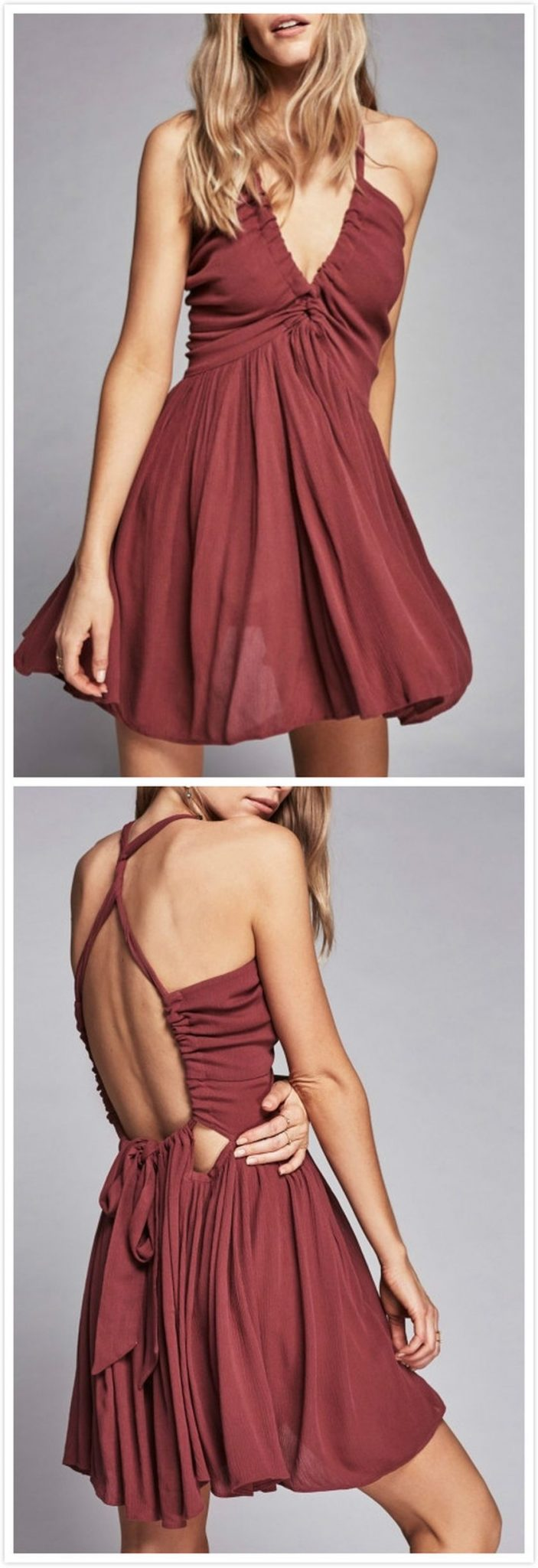 Summer casual backless dresses outfit style 6