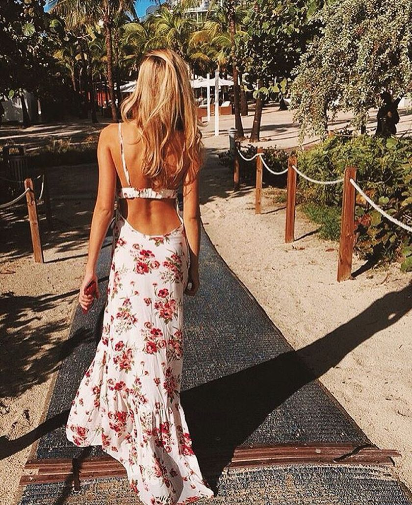 Summer casual backless dresses outfit style 84