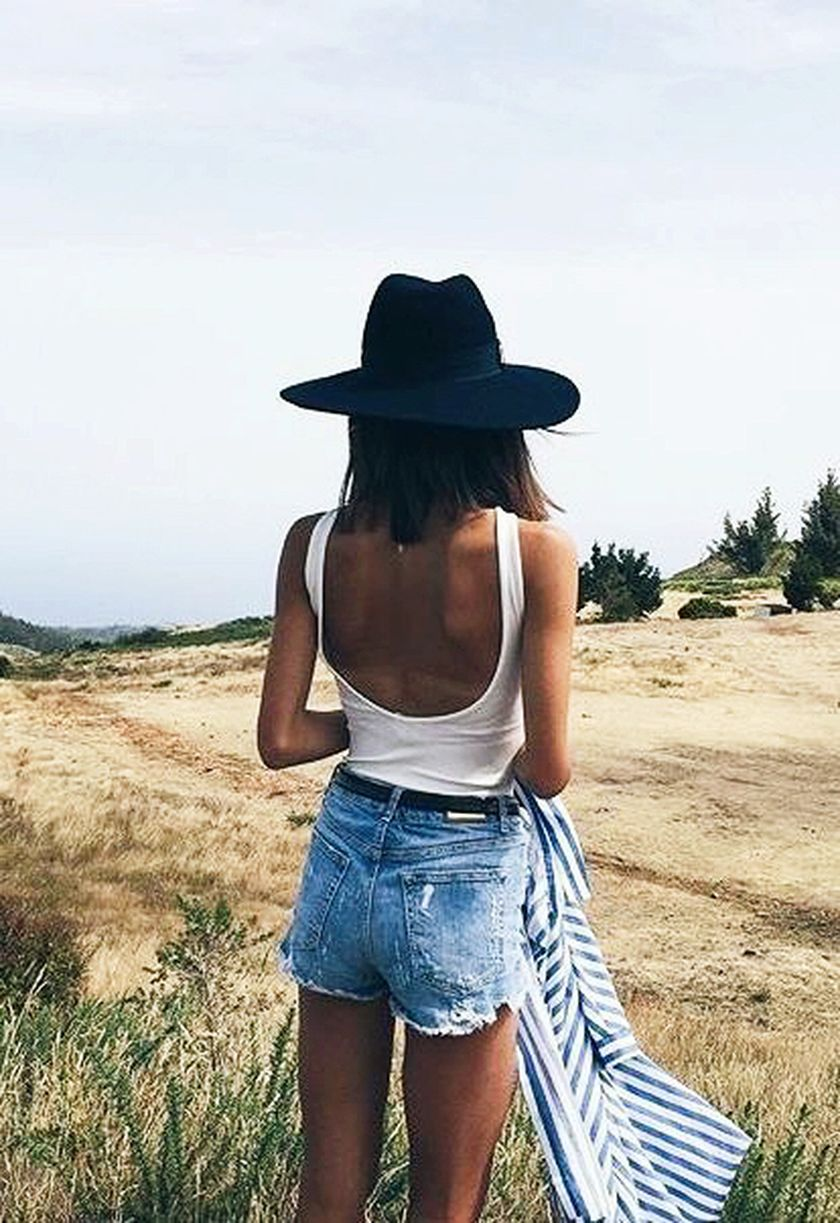Summer casual backless dresses outfit style 88