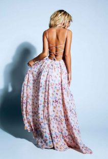Summer casual backless dresses outfit style 91