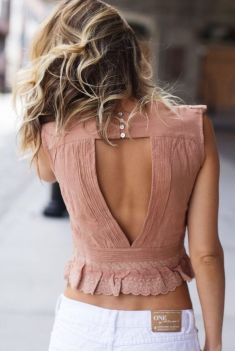 Summer casual backless dresses outfit style 93