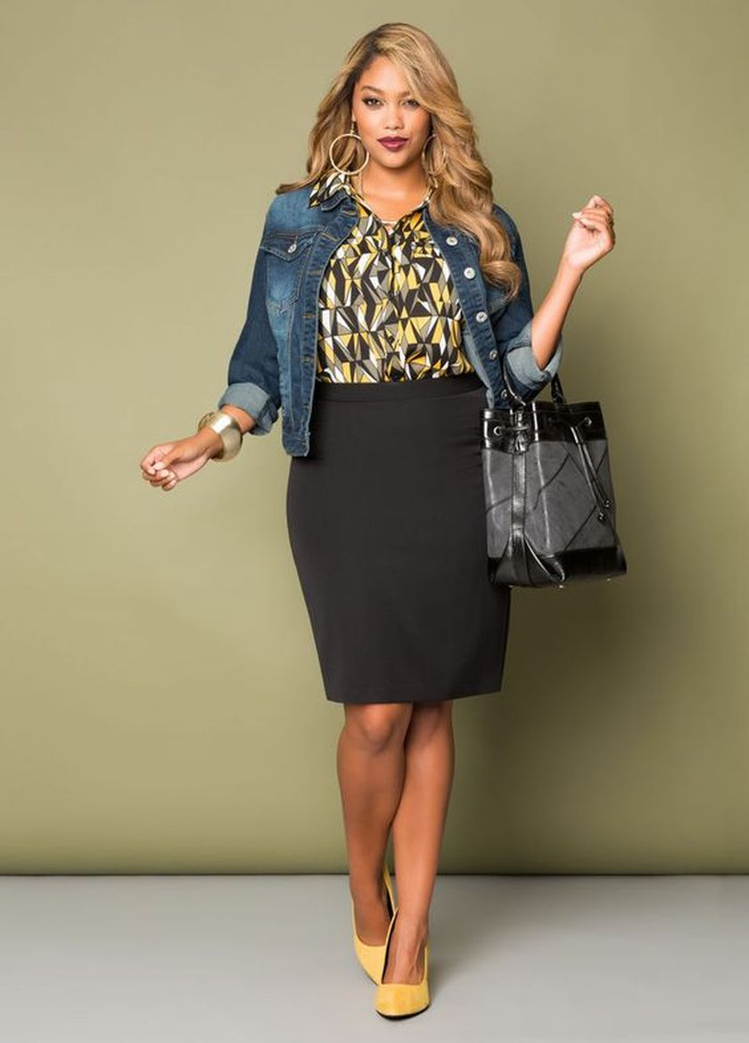 Summer casual work outfits ideas for plus size 16