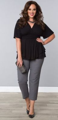 Summer casual work outfits ideas for plus size 53