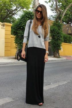 Summers casual maxi skirts ideas 15