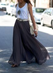 Summers casual maxi skirts ideas 19