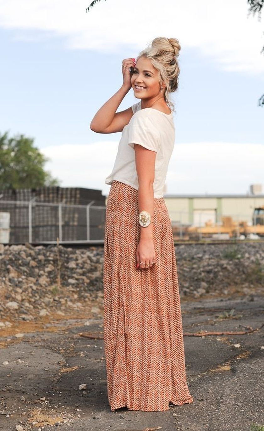 Summers casual maxi skirts ideas 2