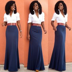 Summers casual maxi skirts ideas 30